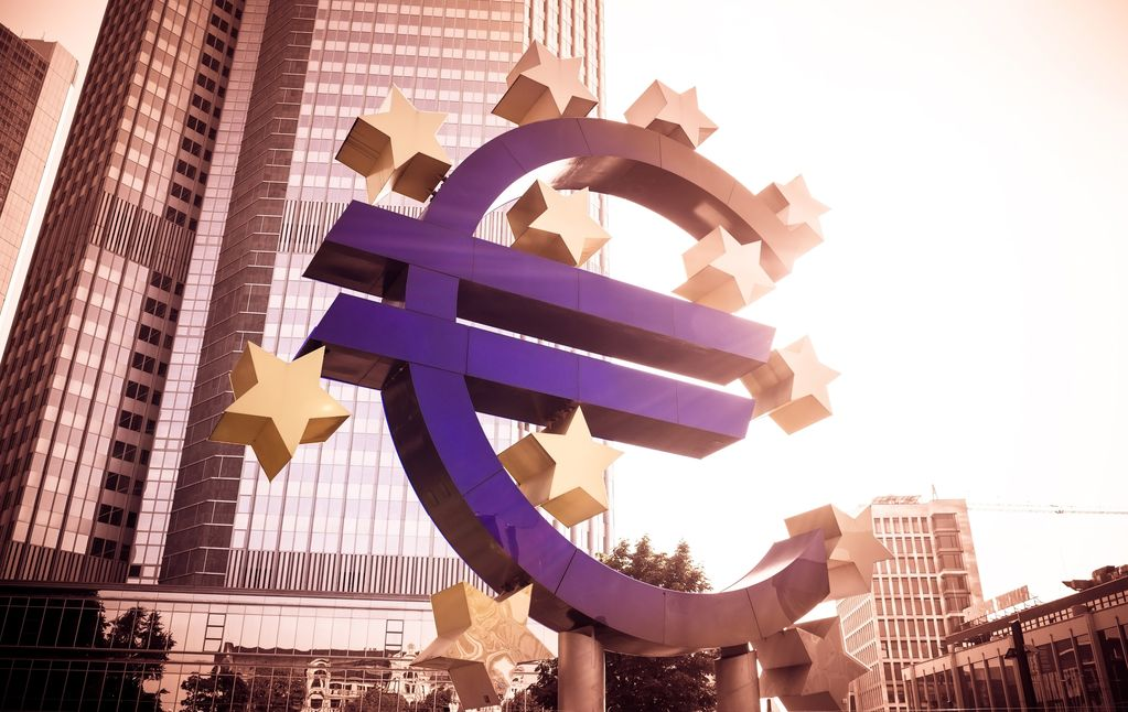 Frankfurt, Germany- July 11: Euro Sign. European Central Bank (E